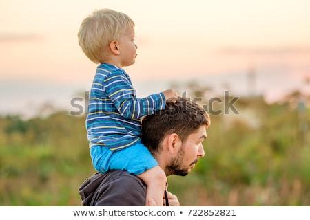 Gelukkig vader baby zoon park Stockfoto © vlad_star