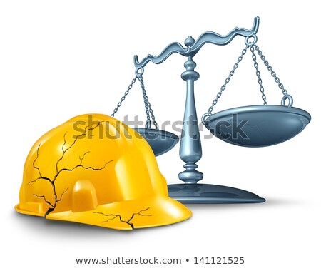 Construction blessure droit travaux accident santé Photo stock © Lightsource