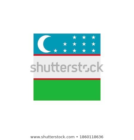 кнопки Узбекистан карта луна звезды стране Сток-фото © Ustofre9
