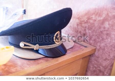 denizci · üniforma · kitap · seyahat · belgeler · beyaz - stok fotoğraf © kuligssen