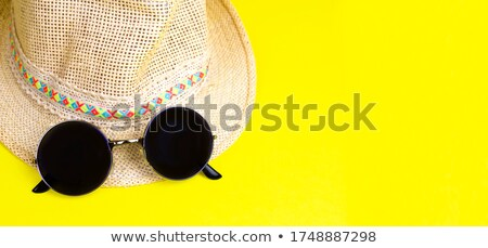 summer background with text in yellow suns and circles and spira Stock photo © marinini