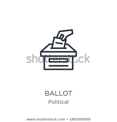 Vektör ikon oylama kutu Stok fotoğraf © zzve