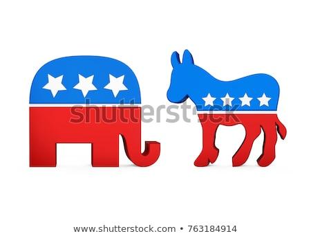 Republikein olifant mascotte USA vlag illustratie Stockfoto © patrimonio