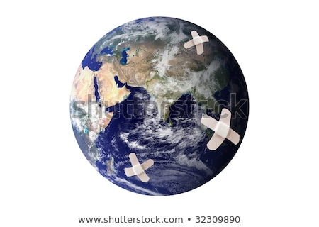 Stock photo: Earth wounded