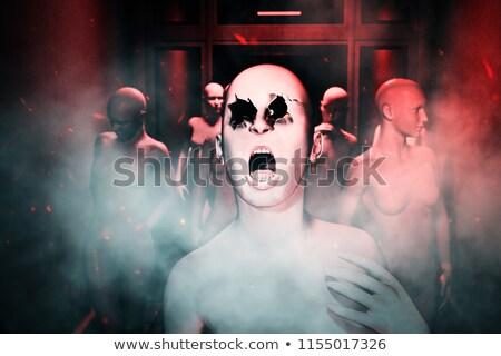 Manekin korytarzu stałego biuro wnętrza Zdjęcia stock © creisinger