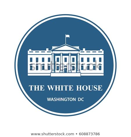 Casa blanca icono cero concepto vector Washington Foto stock © Myvector