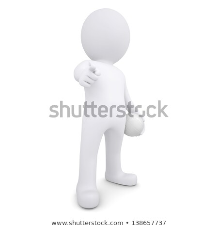 3d white man points his finger at the viewer Stock photo © cherezoff