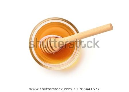 Honing pot honingraat stick zoete houten Stockfoto © doupix