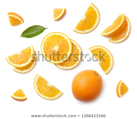 tranches · orange · suspendu · cuisine · fruits · couleur - photo stock © janhetman