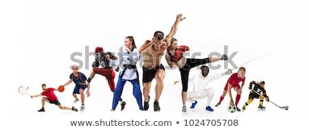 Taekwondo boxing exercise Stock photo © w20er