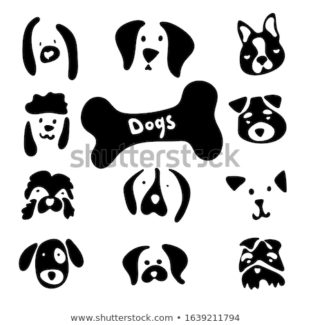 stock vector of dog silhouette on white background Stock photo © Istanbul2009