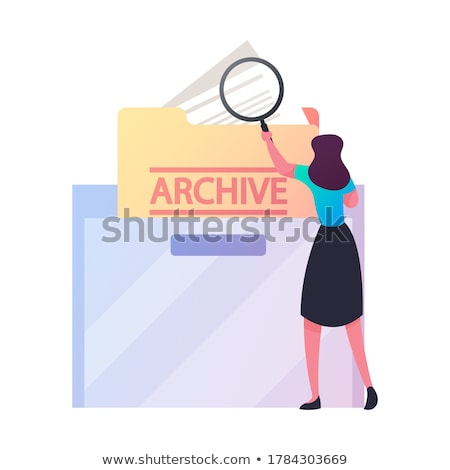 data archiving   magnifying glass stock photo © tashatuvango