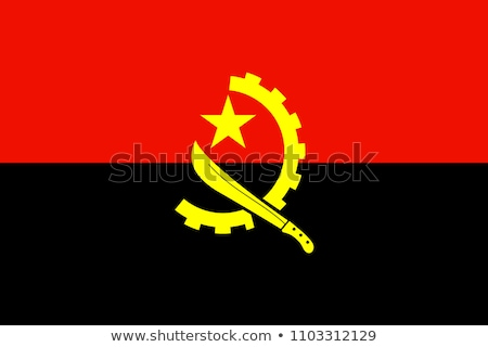 Angola Flag icon, isolated on white background. Stock photo © zeffss