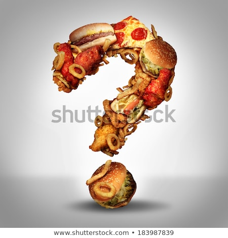 Fast Food Questions Stock photo © Lightsource