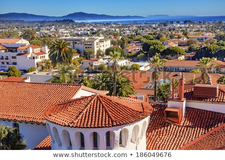 Buildings Coastline Pacific Ocean Santa Barbara California Stock photo © billperry