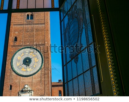 Brick Church Tower Stock photo © rghenry