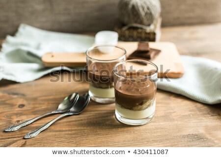 chocolate vanilla mousse Stock photo © M-studio
