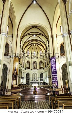 Notre Dame Cathedral Inside Basilica Saigon Vietnam Stock photo © billperry