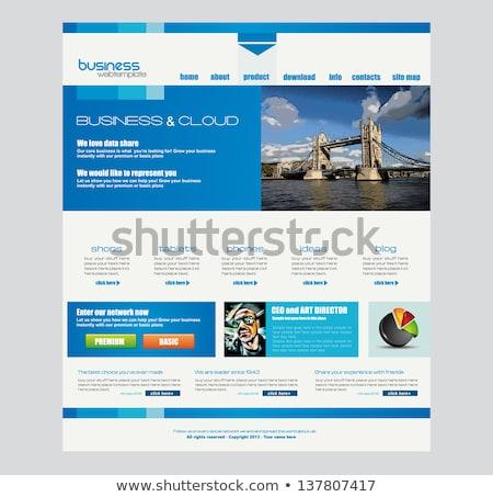 Website template for corporate business and cloud purposes. Stock photo © DavidArts