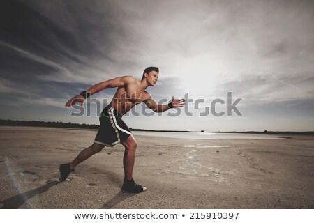 красивый мужчина мускулистое тело красивый парень пространстве одежды Сток-фото © konradbak