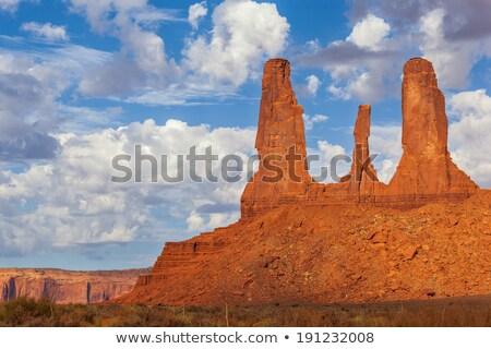 three sisters monument valley stock photo © weltreisendertj
