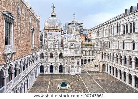 Internal Yard of Doge's Palace (Palazzo Ducale) in Venice, Italy Stock photo © anshar