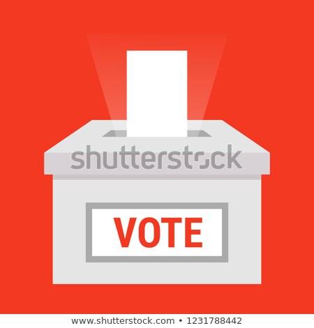 mão · cédula · votar · papel · votação · vermelho - foto stock © blamb