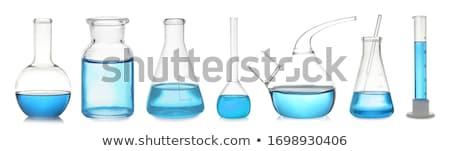 laboratory flask with a blue liquid Stock photo © nito