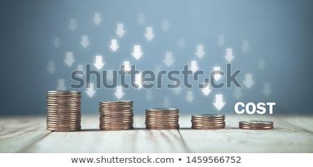 дефицит · сокращение · красный · белый · деньги - Сток-фото © flipfine