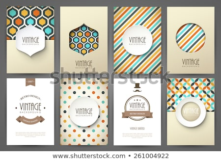 Vintage Design Template - vector illustration Stock photo © sdmix