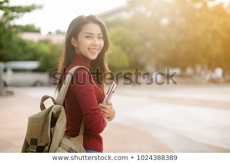 Foto d'archivio: Asian · teen · studente · pan
