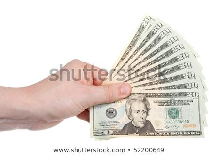 száz · ötven · dollár · számlák · fehér · számok - stock fotó © njnightsky