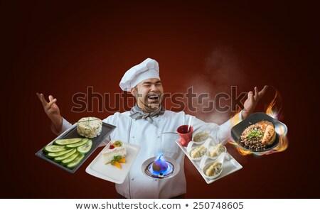 kucharz · portret · dojrzały · zawodowych · człowiek · odizolowany - zdjęcia stock © hasloo