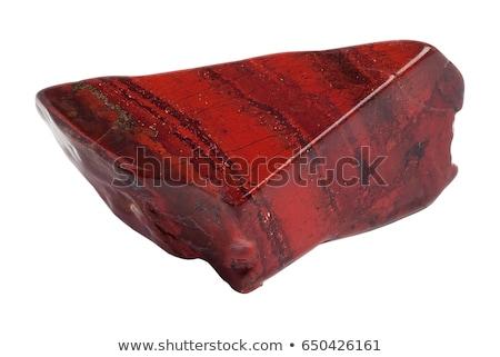 mineral · aislado · blanco · naturaleza · rock · rojo - foto stock © pixelman