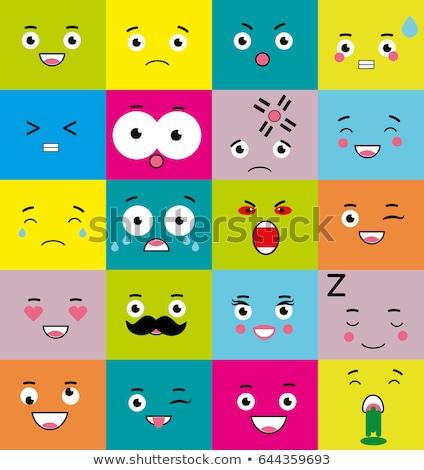 Square emoticon ashamed Stock photo © carbouval