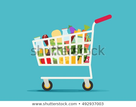 shopping cart with fresh fruit Stock photo © compuinfoto