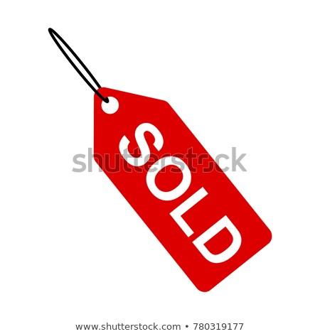 Vendido membro etiqueta venda oferecer ícone Foto stock © Dxinerz
