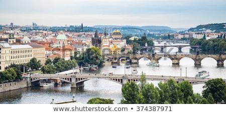 Footbridge over the Vltava river Stock photo © CaptureLight