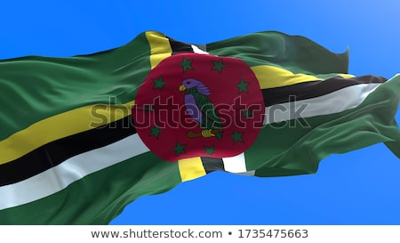 Waving Flag Of Dominica Сток-фото © Myvector