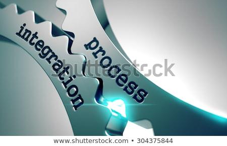 Procede integratie metaal versnellingen zwarte business Stockfoto © tashatuvango