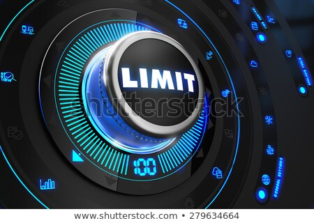 Limit Regulator on Black Control Console. Stock photo © tashatuvango