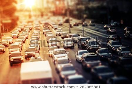 Highway traffic in sunset Stock photo © gabor_galovtsik
