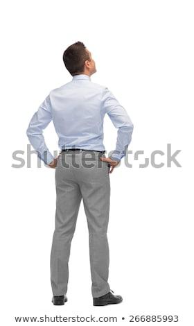 Hátsó nézet elegáns üzletember fehér öltöny profi Stock fotó © wavebreak_media