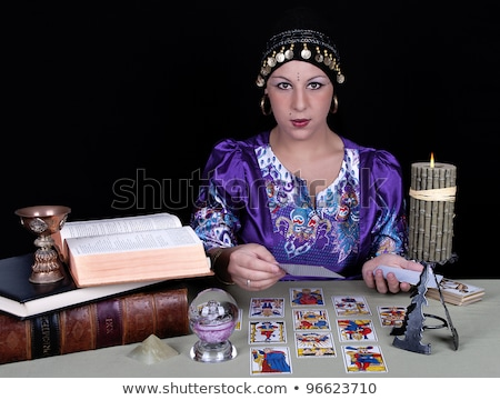 Currencies on fortune teller Stock photo © fuzzbones0