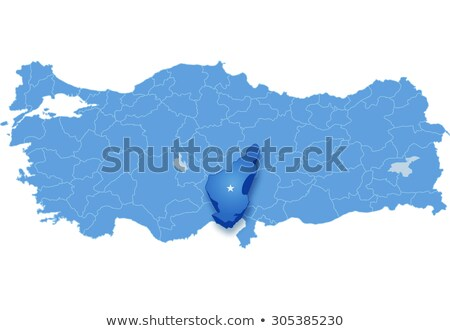 Map of Turkey where Adana province is pulled out Stock photo © Istanbul2009