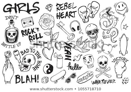Stock photo: doodle skull