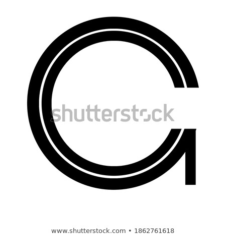 Gems C letter. Shiny diamond font. stock photo © logoff
