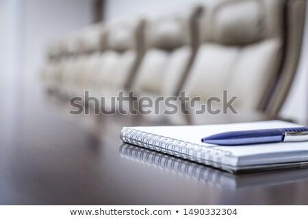 Strateji dikkat gündem kalem ofis kâğıt Stok fotoğraf © fuzzbones0