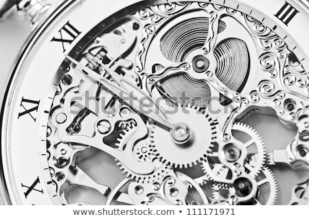vintage mechanical watch closeup stock photo © oleksandro