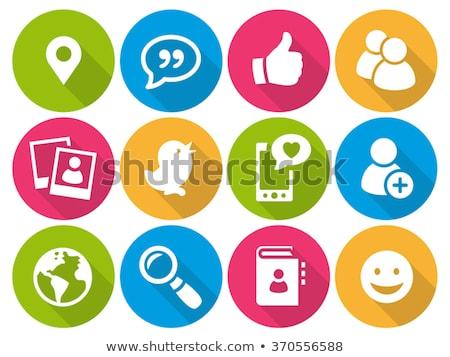 social media flat icons set 01 stock photo © genestro